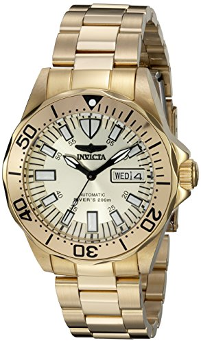 Invicta Men's 7047 Signature Collection Pro Diver Gold-Tone Automatic Watch - Invicta Sapphire Wrist Watch