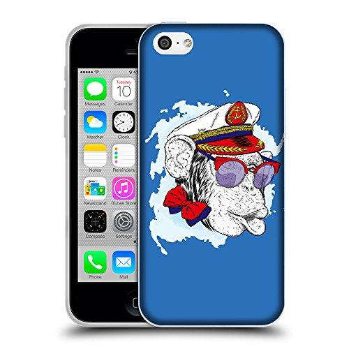 GoGoMobile Coque de Protection TPU Silicone Case pour // Q05000608 Capitaine singe Azur // Apple iPhone 5C
