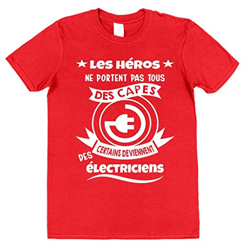 Rouge Héros Électriciens Clobber Certains T Les Deviennent Pas Capes shirt My Click Coton Des Ne Portent Hommes Tous tTq7AnfxwC