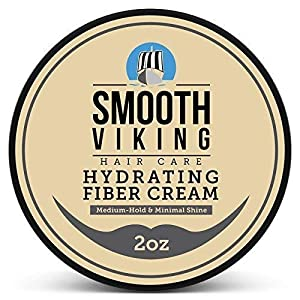 Hair Styling Fiber for Men - Pliable Molding Wax Product with Medium Hold & Minimal Shine - For Modern Hairstyles - Thickens, Texturizes & Increases Fullness in Thinning Hair - 2 OZ - Smooth Viking from Skin Melody