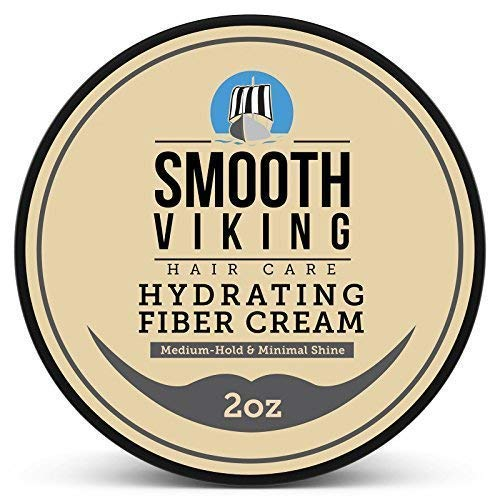 (Smooth Viking, Hair Styling Fiber for Men, Pliable Molding Wax with Medium Hold & Minimal Shine, Thickens, Texturizes & Increases Fullness in Thinning Hair, 2 ounces )