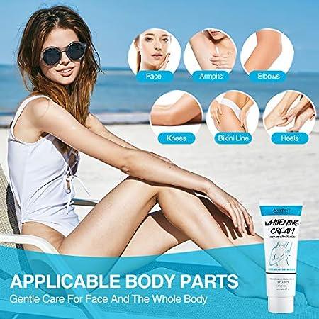 Crema blanqueadora para las axilas Crema blanqueadora para blanquear el cuerpo, debajo del brazo, las rodillas, los codos ilumina, hidrata y repara la piel