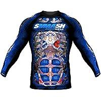 SMMASH Rashguard Fight Machine Electric Manches Longues S M L XL XXL XXXL MMA BJJ UFC K1