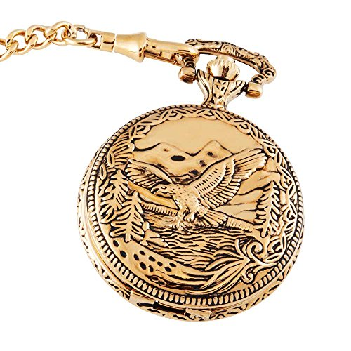 Gold Face Pocket Watch - 1