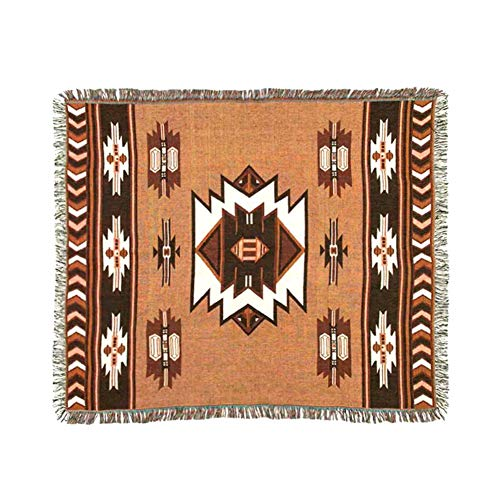 PEI's Native American Totem Art Thick Cotton Blanket Throw Cover, Multi-Function Tapestry Decorative Rug for Home, 49
