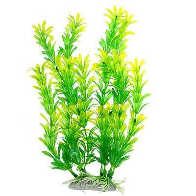 Amazon.com : eDealMax acuario de plástico plantas de hierba Paisaje, 11, Verde/Amarillo / Verde : Pet Supplies