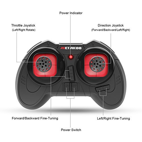 Drone, Metakoo M1 Mini Drone 2.4GHz 6-Axis Double Battery for Beginners and Kids Drone with 360°Full Protection, Altitude Hold, 3D Flips, Headless Mode, 3 Speed Modes Functions by METAKOO (Image #8)