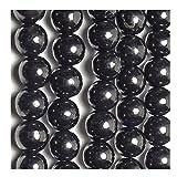 Karelian Heritage Regular Shungite Stone Beads Set of 50 Pcs. for Jewelry Making (8 mm) S161