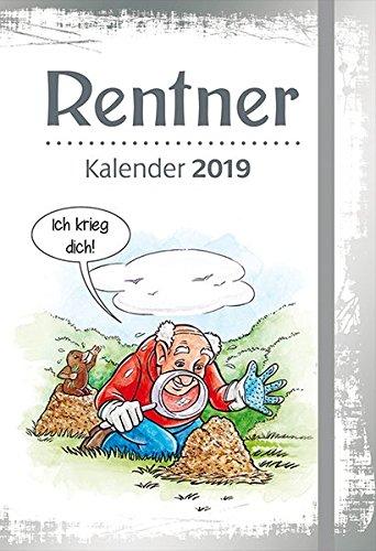 Rentner - Kalender 2019: Taschenkalender mit Lesebändchen und Gummiband