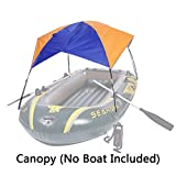 Asenart Foldable Canopy for Inflatable Boat(3 Person) and Camping Sun Shelter Fishing Tent Sun Shade Canopy Awning(No Boat Included)