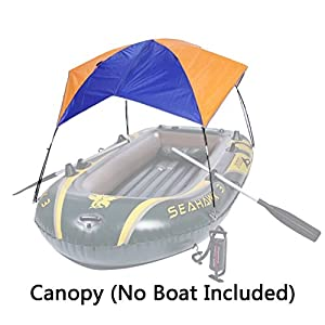 Asenart Foldable Canopy for Inflatable Boat?3 Person?and C&ing Sun Shelter Fishing Tent Sun Shade Canopy Awning?No Boat Included?  sc 1 st  Amazon.com & Amazon.com : Asenart Foldable Canopy for Inflatable Boat?3 Person ...
