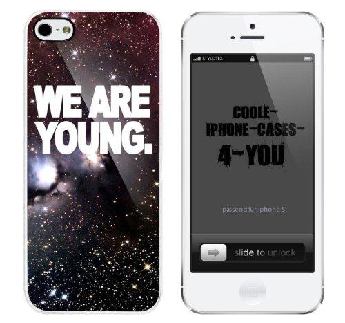 Iphone 5 / 5S Schutzhülle We are young - weisser Rahmen