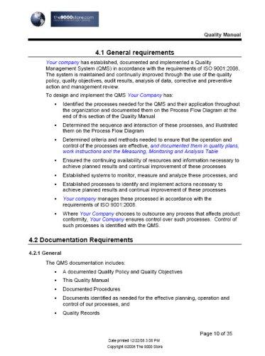 Iso 9001 2008 Quality Manual Buy Online In Uae Cd Rom