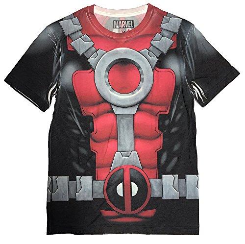 Deadpool Costume For Men (Hybrid Marvel I am Deadpool Sublimated Men's Costume T-Shirt (XXL,)