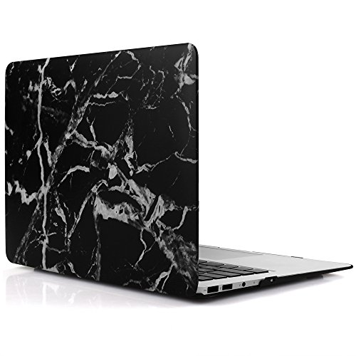 iDOO Matte Rubber Coated Plastic Hard Case for MacBook Air 11 inch Model A1465 and A1370 - Transparent Black