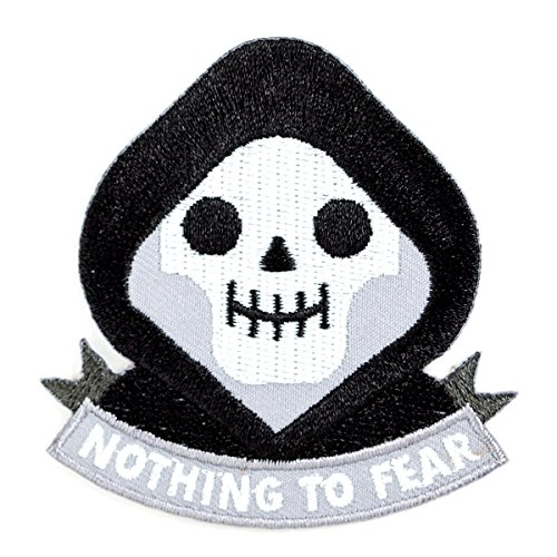These Are Things Grim Reaper Embroidered Iron On