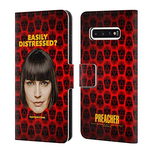 (Official Preacher Featherstone Season 3 Character Art Leather Book Wallet Case Cover Compatible for Samsung Galaxy S10)