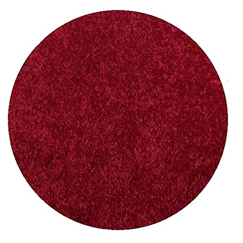 6 round area rug carpet ruby slipper red 30 oz thick 100 polyester fiber medium density soft and durable multiple sizes shapes and brilliant