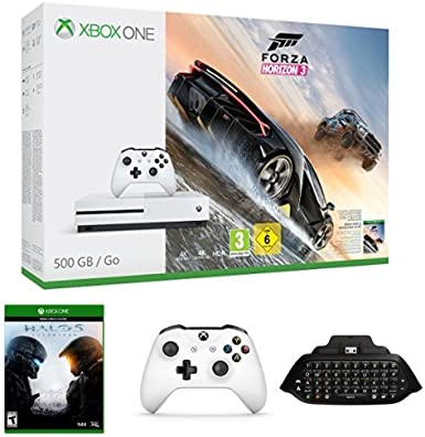 Xbox One - Consola S 500 GB Forza Horizon 3 + Halo 5: Guardians + Mando Adicional + Chatpad + Headset: Amazon.es: Videojuegos