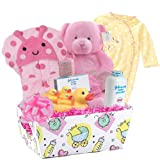 Baby Boutique ''Pretty Baby'' Baby Girl's New Baby Gift Basket , Pink