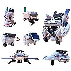 Lingxuinfo 7 in 1 Solar Energy Robot Toys Kit, Educational Solar Robot, Robot Toy for Boys