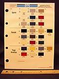 1987 87 IMPORT SPRINT, SUZUKI, & YUGO AMERICA Paint Colors Chip Page