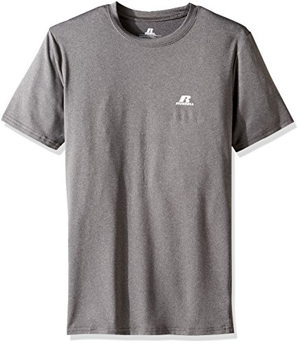 Russell Short Sleeve Tee (Russell Athletic Men's Short Sleeve Compression Tee, Black Heather, Large)