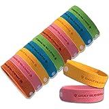 Braccialetto anti zanzare -12 pezzi di braccialetti anti-zanzare adatti per il viaggio, privi di sostanze tossiche o chimiche adatto sia per bbini che per gli adulti