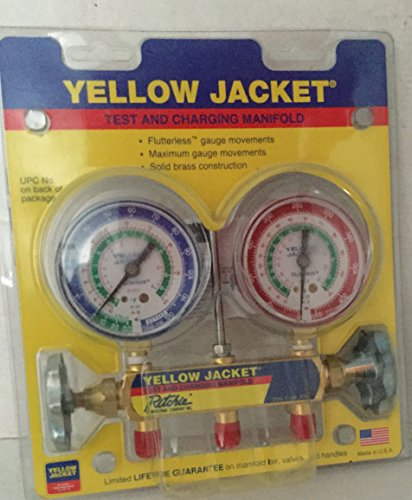 "Yellow Jacket 41212 Manifold Only with 2-1/2"" Gauge, psi,..."