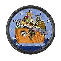 CafePress - Noah's Ark - Large 17 Round Wall Clock, Unique Decorative Clock