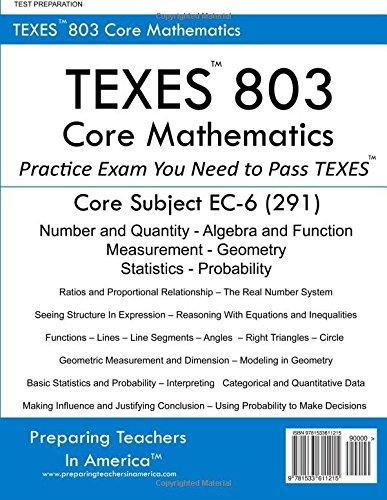 TEXES? 802 Core Mathematics: Core Subject EC-6 (291): Preparing ...