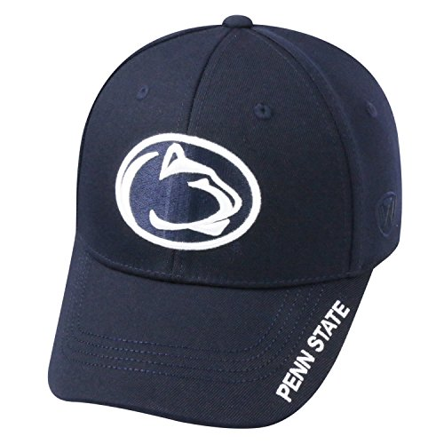 Ncaa Fitted Cap Hat - Top of the World NCAA-Premium Collection-One-Fit-Memory Fit-Hat Cap-Penn State Nittany Lions