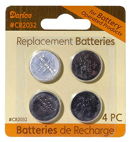 Darice Replacement Button Batteries - Battery Size CR2032-4 Pieces