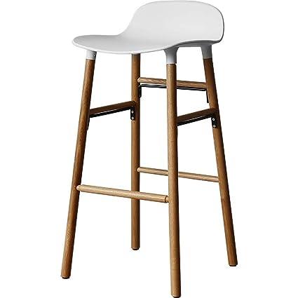 Amazon.com: Wood Barstools Counter Small Apartment Multifunction ...