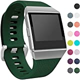 Wepro Fitbit Ionic Watch Band, Bands Replacement Sport Strap Accessory for Fitbit Ionic Smartwatch, Buckle, Tarmac, Small