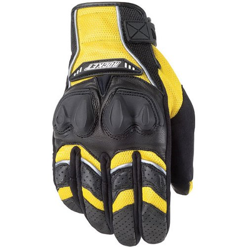Glove Rocket Black Joe Mesh (Joe Rocket 1056-1404 Men's Phoenix 4.0 Motorcycle Riding Gloves (Yellow/Black/Silver, Large))