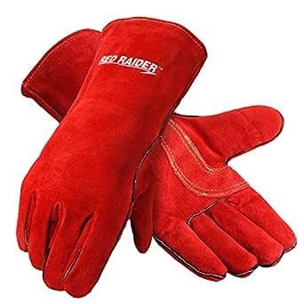 Galeton 2880 Red Raider guantes de soldador de cuero de