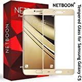 NETBOON Original Tempered Glass Screen Protector For Samsung Galaxy C5 – (Gold)