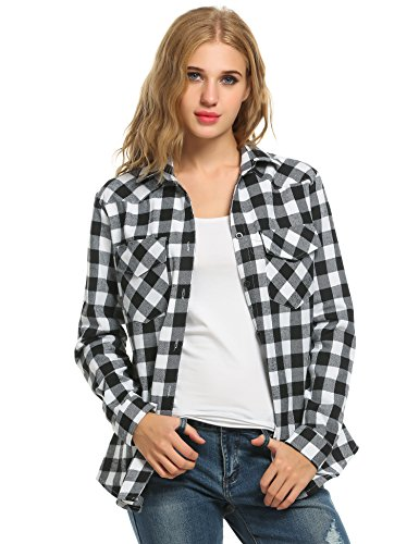 Black And White Flannel Shirt - 8