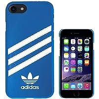 adidas アディダス iPhone7 ケース ブランド ハード スマホケース アイホン7 ケース 3ストライプ ブルー/ホワイト [並行輸入品]