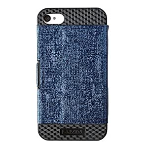 TOPQQ LLMM Creative Design Protective PU Flip-open Case with Stand for iPhone 4/4S (Assorted Colors) , Blue