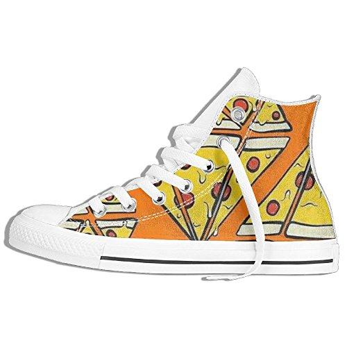 Haut Top Toile Lace Up Tennis Plimsoll Chaussures Baskets Sneakers, Sneaker De Mode Classique Blanc