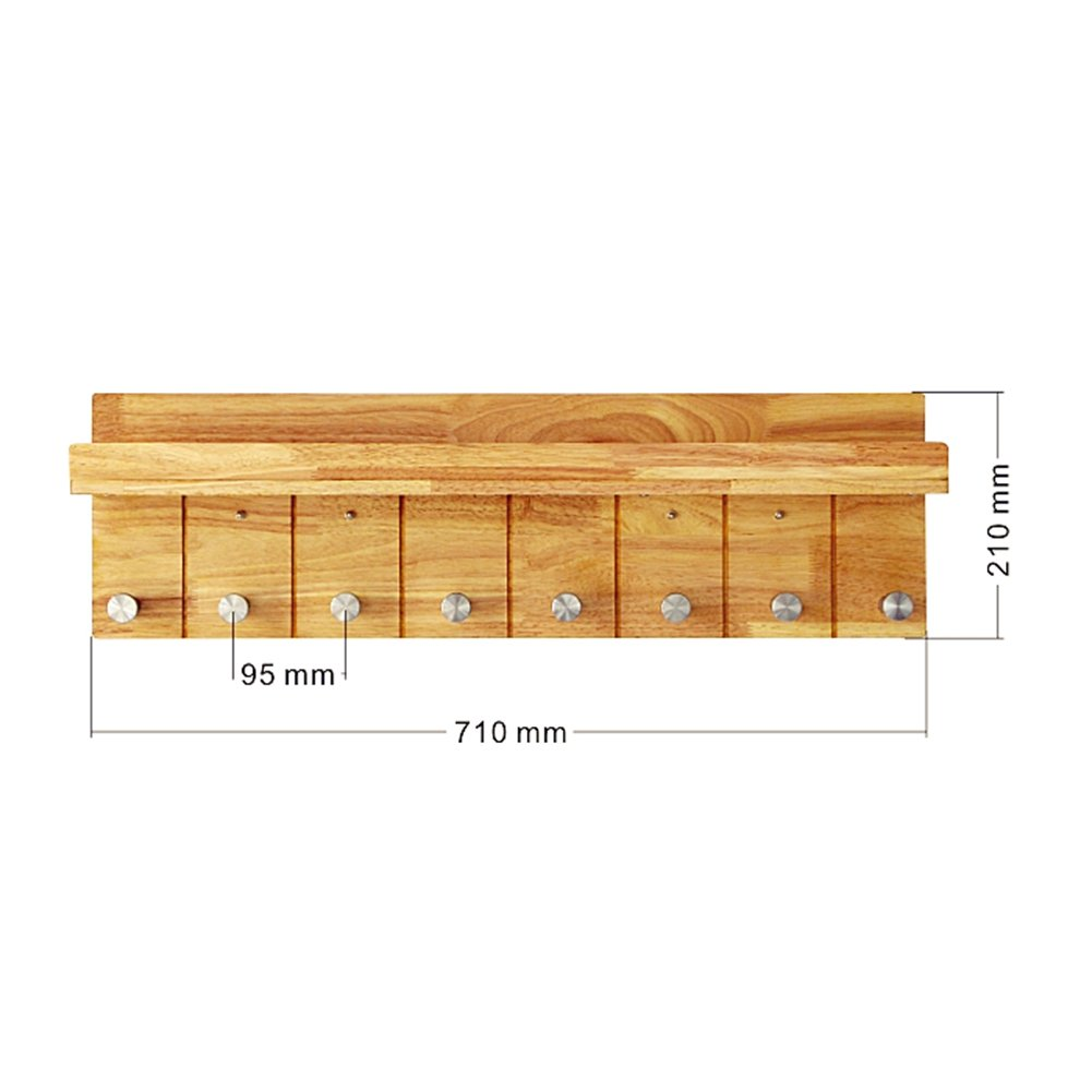 LIANGJUN スカーフ フック ウォールハンガー 棚付き ソリッドウッド エントランス リビングルーム ベッドルーム、 使用可能な3つのサイズ ( サイズ さいず : 35X21cm ) B07B3WV5PS 35X21cm 35X21cm
