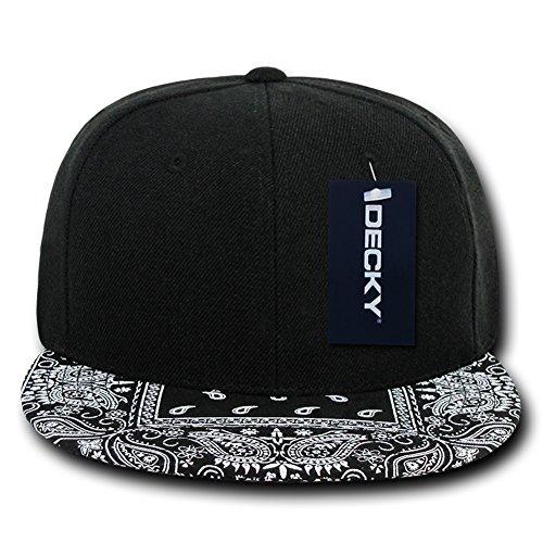 DECKY Bandanna Snapbacks Bandana Cap (One Size, Black / Black) -