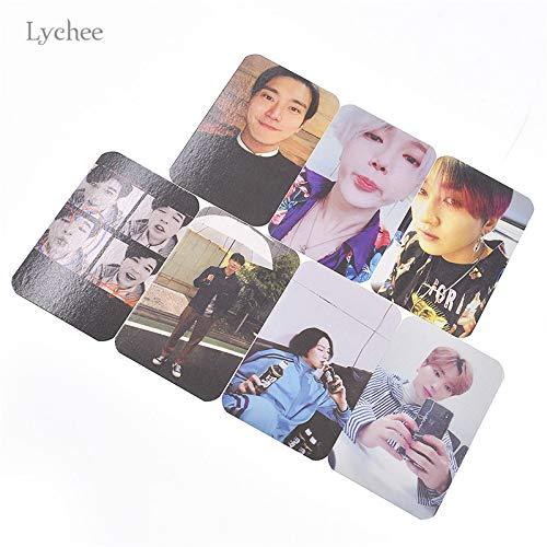 Cacys-Store - 7pcs/set Super Junior Replay Album Paper Photo Cards PVC Photocard For Fans Album DIY Decorative Paper Crafts