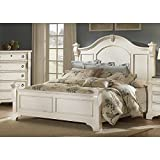 Heirloom Antique White Queen Poster Bed