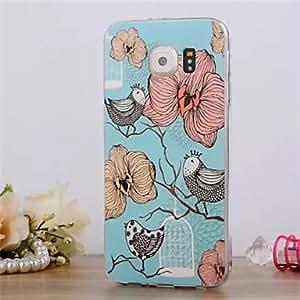 WQQ 20150511 Birds Pattern 3DThree-dimensional Relief Slim TPU Phone Case for Samsung Galaxy S6