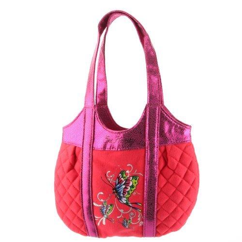 Ed Hardy Girls Allison Quilted Tote - Orange (Ed Hardy Handbag Womens)