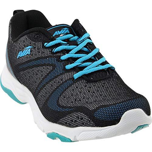Avia Women's avi-Celeste Cross-Trainer Shoe, Black/White/Detox Blue,