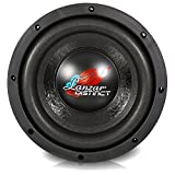 Lanzar Car Subwoofer Audio Speaker - 8in Black Non-Pressed Paper Cone, Stamped Steel Basket, 4 Ohm Impedance, 600 Watt Power and Foam Surround for Vehicle Stereo Sound System - DCTS81